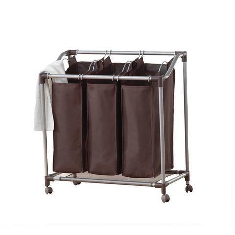 Neatfreak! Deluxe Triple Laundry Sorter - Everfresh - spanish brown