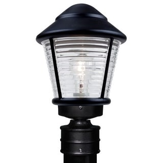 Costaluz 3100-POST 1 Light Incandescent Post Light with Clear Glass Shade