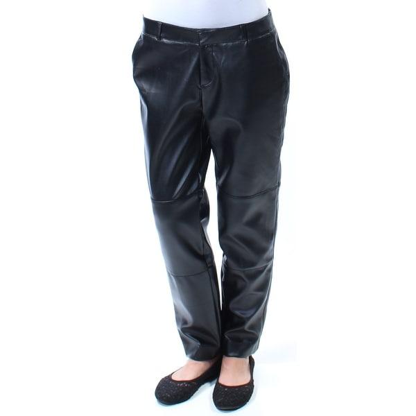 RACHEL ROY Womens Black Faux Leather Pants Size: 2