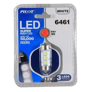 Pilot Automotive Super Bright Dome Light LED Bulb (3 LEDS Per Bulb)