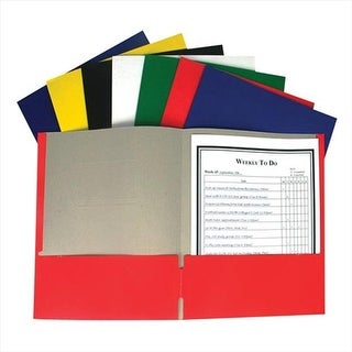 C-Line Products Recycled Two-Pocket Paper Portfolios Assorted - Se