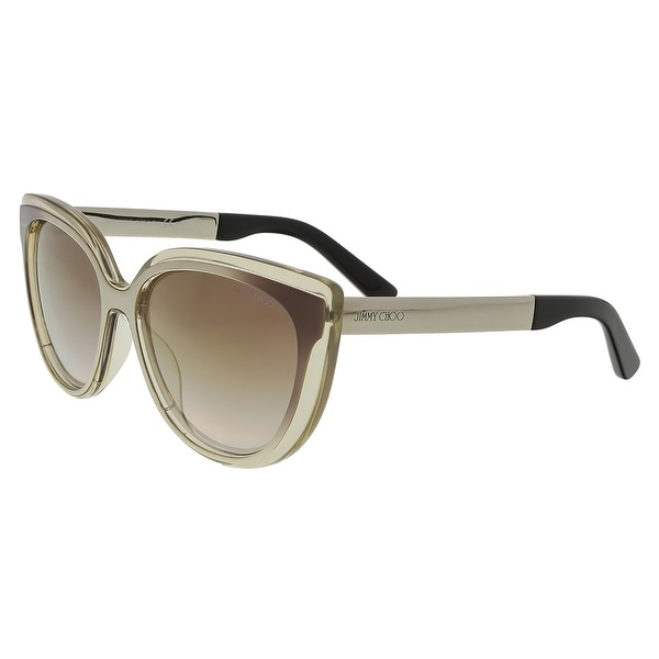 e6f1c119c5 Shop Jimmy Choo JMC CINDY S 01M1 Brown Gold Cat Eye Sunglasses ...