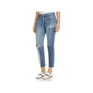 Levi's Womens Ankle Jeans Button Fly Ripped