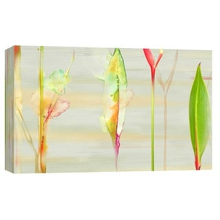 """PTM Images 9-102190  PTM Canvas Collection 8"""" x 10"""" - """"Stems in Tropics II"""" Giclee Leaves Art Print on Canvas"""