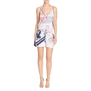 French Connection Womens Romper Floral Print Adjustable Straps