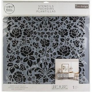 """Prima Re-Design 3D Stencil 20""""X20""""-Madelia Garden"""
