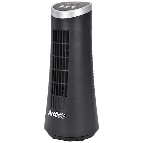 Arctic-Pro Desktop Oscillating Slim Mini Tower Fan, 12 Inches