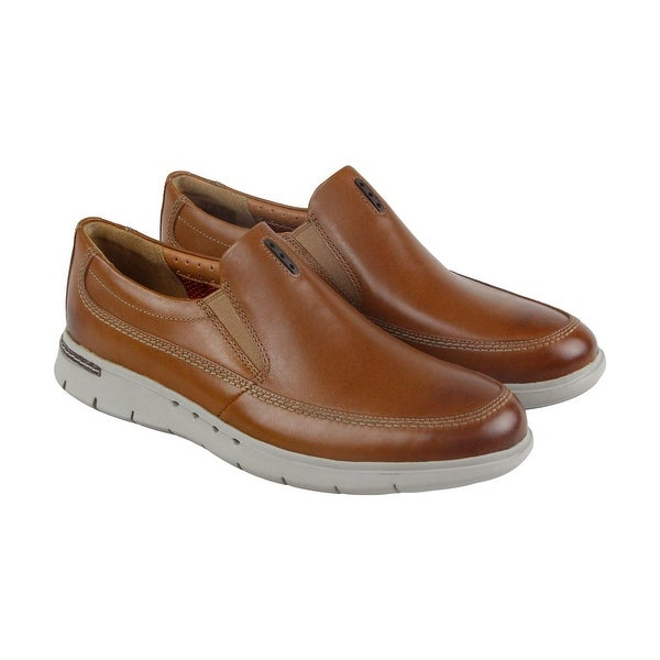 Clarks Unbyner Easy Mens Brown Leather Casual Dress Slip On Loafers Shoes