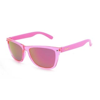 Peppers Sunglasses Spitfire Crystal Pink Frame with Polarized Pink Mirror Lens