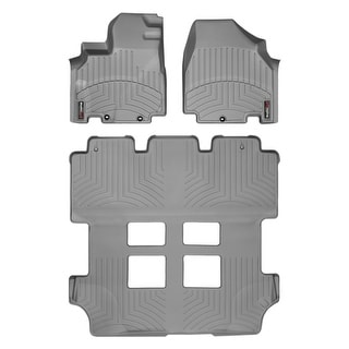 WeatherTech Honda Odyssey 2011+ Grey Front & Rear Floor Mats FloorLiner 46341 1 2