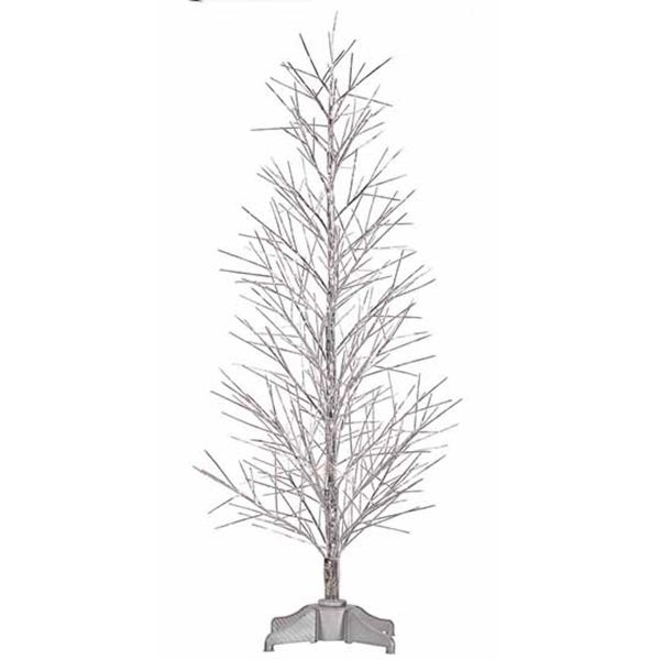 2' Pre-Lit Battery Operated Silver Fiber Optic Christmas Twig Tree - Multi