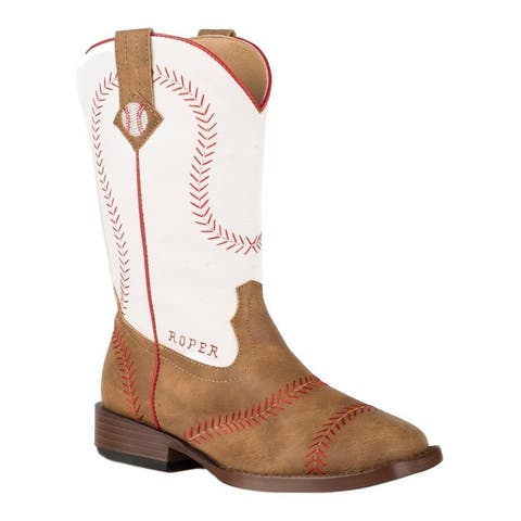 Roper Western Boots Boys Baseball Faux Leather