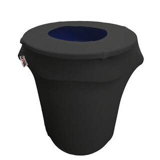 SpandexCover32G-BlackX24 Stretch Spandex Trash Can Cover 32 gal