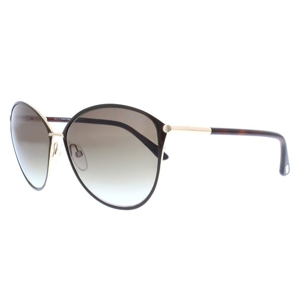 Tom Ford Penelope TF 320 28F Gold Havana Brown Gradient Women Cat eye Sunglasses - havana brown/gold - 59mm-15mm-130mm