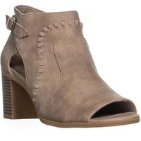 Easy Street Poppet Peep Toe Ankle Boots, Taupe - 8 us