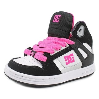 DC Shoes Rebound SE Youth Round Toe Leather Multi Color Skate Shoe