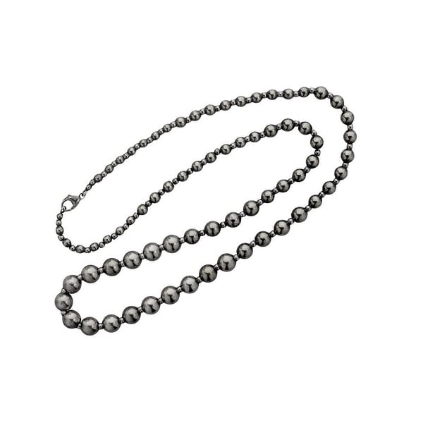 """Vogt Western Womens Necklace Matte Sterling Beads 16"""" Silver 016-808"""
