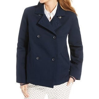 Tommy Hilfiger Womens Jacket Double-Breasted Lined