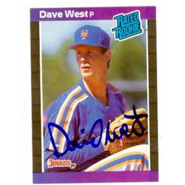 0aba4fb3e5 Shop Dave West Autographed Baseball Card New York Mets 1989 Donruss No. -  Free Shipping On Orders Over $45 - Overstock - 23990457
