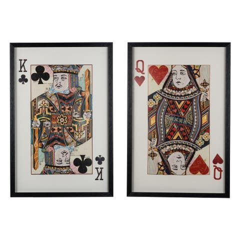 A&B Home Club and Heart Royal Pair Wall Art (Set of 2)