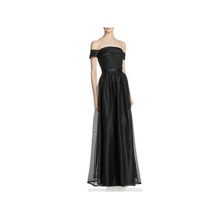 JS Collections Womens Evening Dress Off-The-Shoulder Full-Length