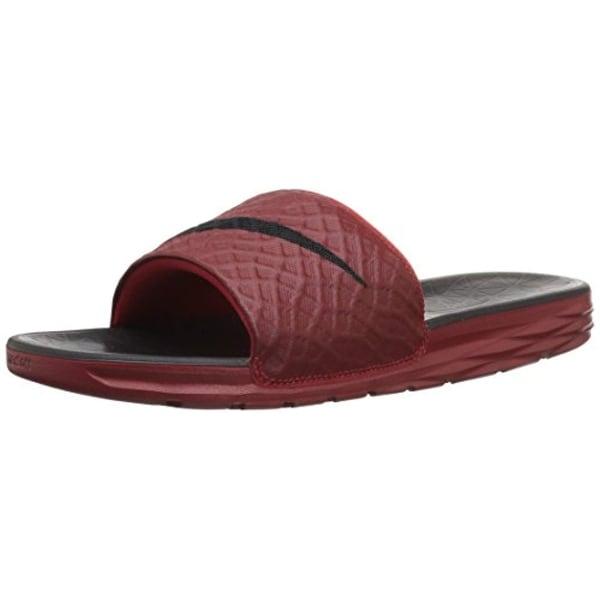 102a8911187706 Shop Nike Mens Benassi Solarsoft Slide 2 Sandals Black Anthracite ...