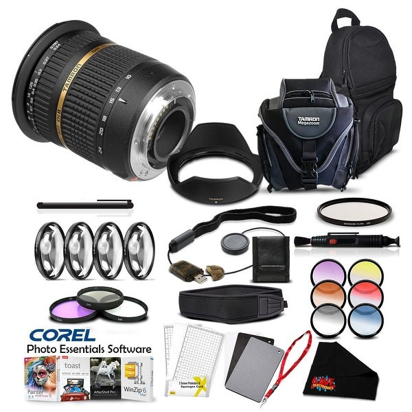 Tamron SP AF 10-24mm f / 3.5-4.5 DI II Lens For Sony Pro Accessory Kit - Black