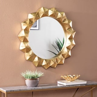 Link to Silver Orchid Pimton Round Decorative Mirror, Antique Brass/Mirror Similar Items in Mirrors