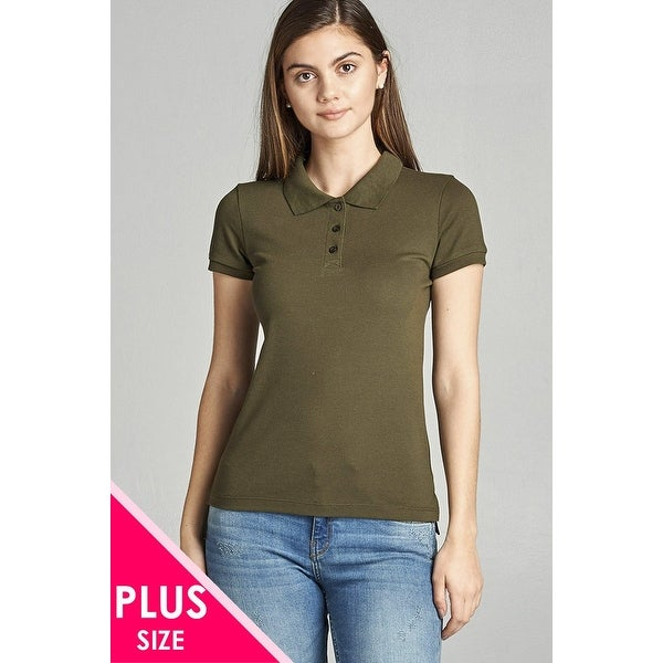 96cdde14dac Shop Ladies Fashion Plus Size Classic Pique Polo Top - Size - 2Xl - Free  Shipping On Orders Over  45 - Overstock.com - 23162597