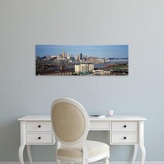 Easy Art Prints Panoramic Image 'Cincinnati skyline, Ohio and Ohio River as seen from Covington, KY' Canvas Art