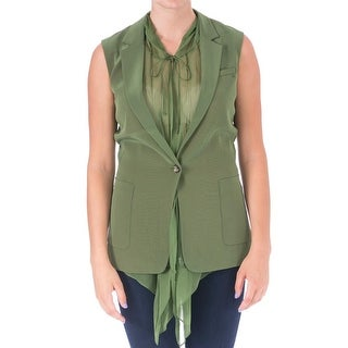 Elizabeth and James Womens Mona Crepe Hooded Vest