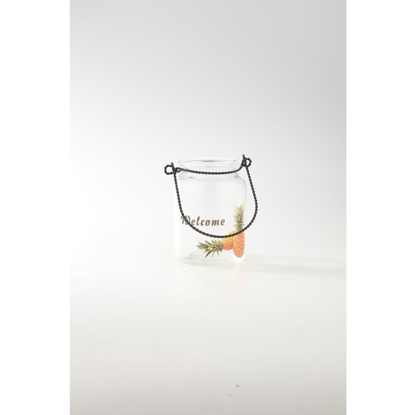 """6"""" Clear Round Glass Snack Jar with Handle - N/A"""
