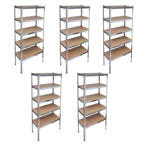 vidaXL Storage Rack Garage Storage Shelf 5 pcs