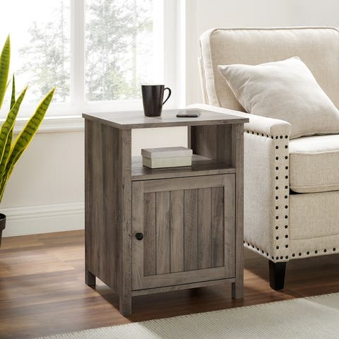 The Gray Barn 18-inch Grooved Door Side Table