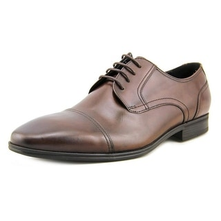 Kenneth Cole Reaction In A Min-Ute Men Cap Toe Leather Brown Oxford