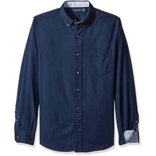 Nautica NEW Navy Blue Mens Size XL Long Sleeve Button Down Shirt