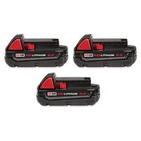 Replacement 2000mAh Battery for Milwaukee 2620-20 / 2695-24 / 2759B-20 Power Tools (3 Pk)