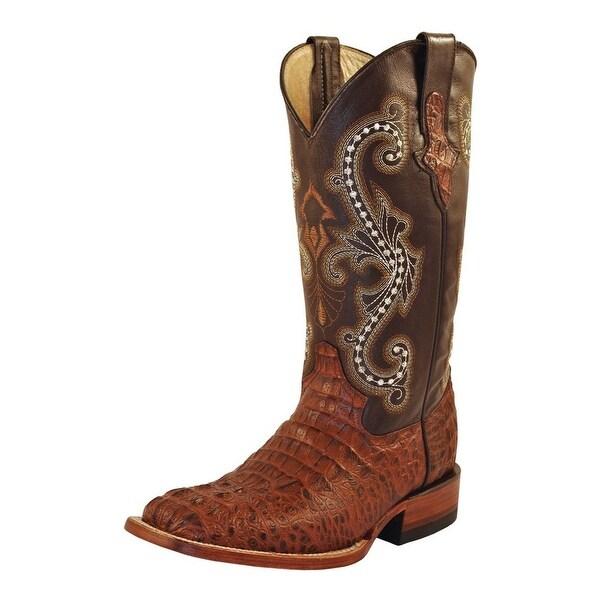 Ferrini Western Boots Womens Caiman Gator Print Sport Rust