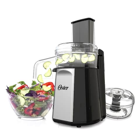 Oster Oskar 2-in-1 Salad Prep & Food Processor in Black