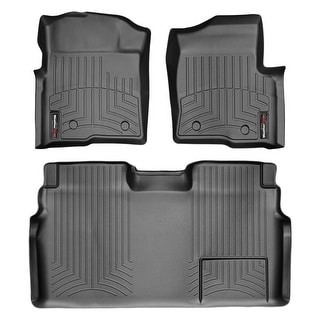 WeatherTech 446111-441793 Black Front & Rear FloorLiner: Ford F-150 2009 - 2014 Crew Cab