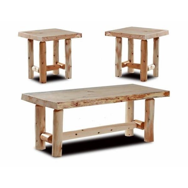 Shop Easton Rustic Coffee End Tables 20 X 44 X 17 In Free