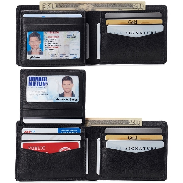 Alpine Swiss RFID Connor Passcase Bifold Wallet For Men Leather Comes in a Gift Box - One Size. Opens flyout.