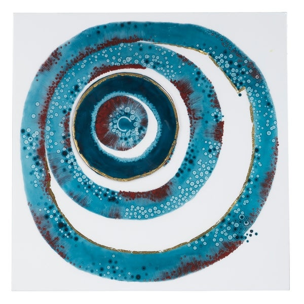 "Square Abstract Whirlpool Wall Art 23"" X 23"". Opens flyout."
