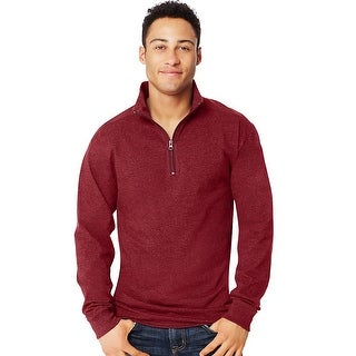 Hanes X-Temp Men's 1/4 Zip Long-Sleeve T-Shirt