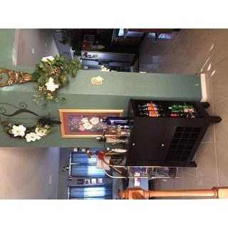 Modesto Brown Bar Cabinet by Baxton Studio