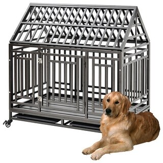 Link to Heavy Duty 45'' Roof Dog Crate Cage Kennel Pets Furniture Similar Items in Dog Furniture