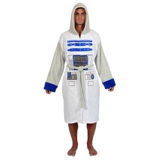 Star Wars White Grey R2D2 Fleece Robe (One Size)