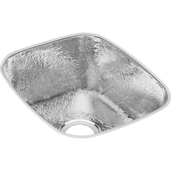 """Elkay SCUH1416 Gourmet 16"""" Single Basin 18-Gauge Stainless Steel Kitchen Sink for Undermount Installations with SoundGuard"""