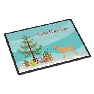 Carolines Treasures BB2907MAT Border Terrier Merry Christmas Tree Indoor or Outdoor Mat 18x27