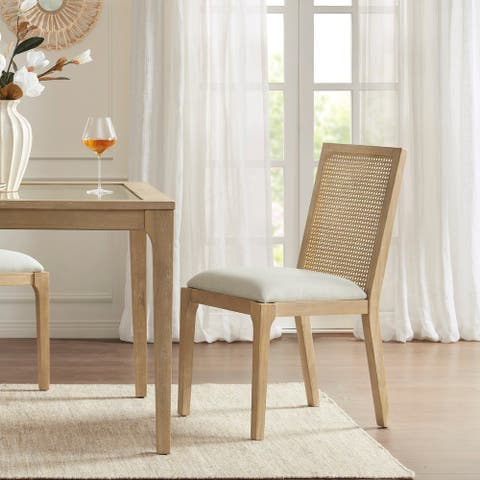 Madison Park Ashe Natural Dining Chair set of 2